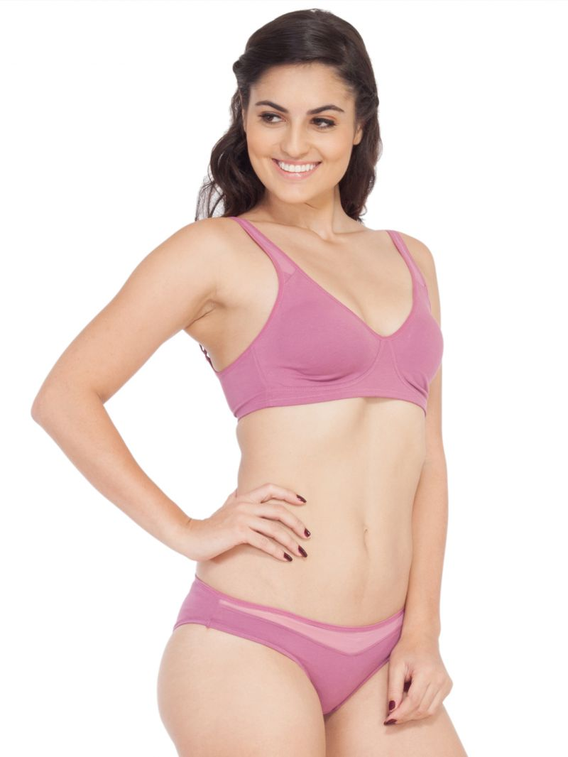 c4cf34588cd9 Soie Molded Padded Bra And Matching Panty (code - Set 315+1315mauve)