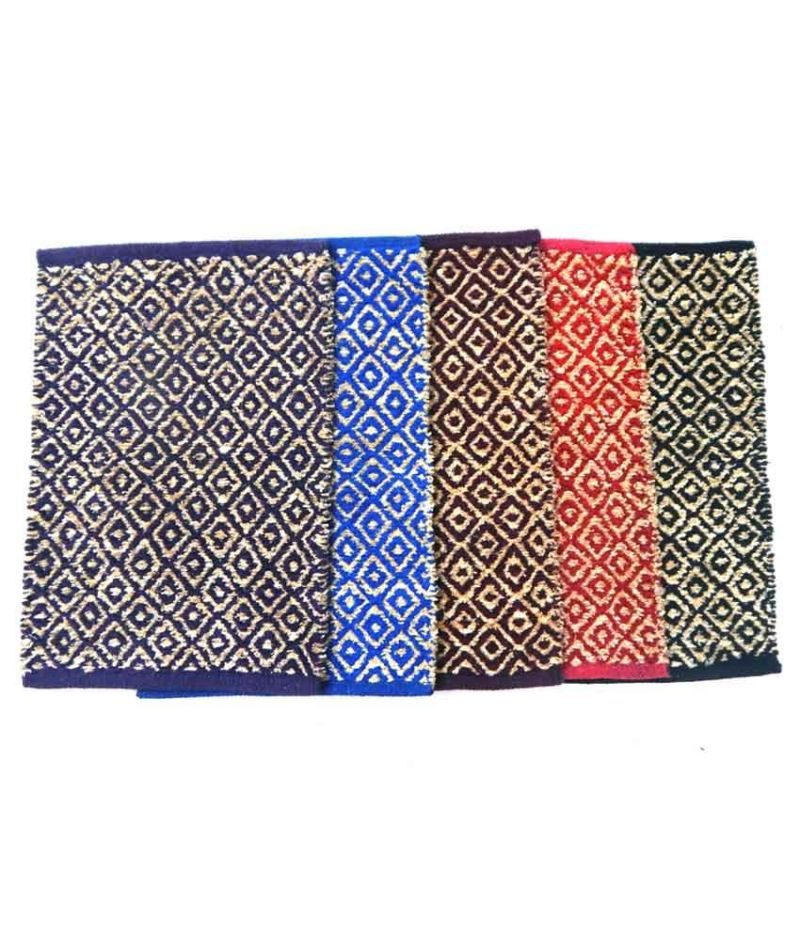 Buy Peponi Multicolour Contemporary Cotton Floor Mat Set Of 5 online