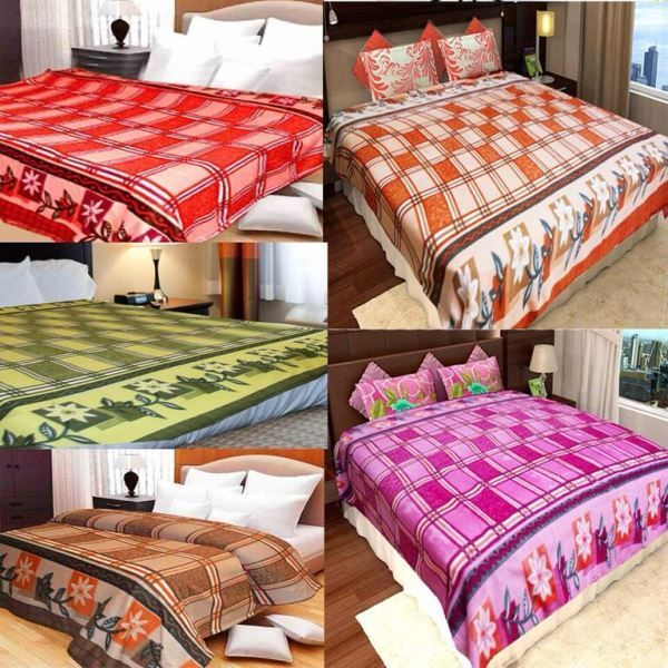 Buy Peponi Multicolor Fleece Double Bed Super Lite Blanket Pack Of 5 online