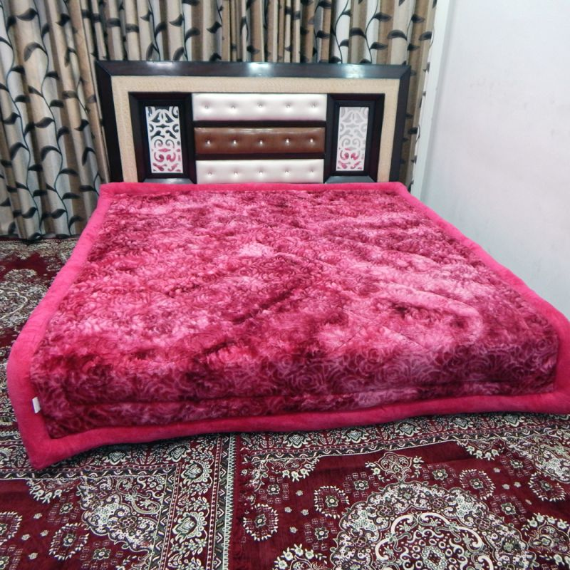 Buy Peponi 4.3 Kg Pink Embossed Design Ultra Fiber Super Soft Double Bed  Quilt Online | Best Prices In India: Rediff Shopping