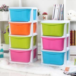 Buy Rack - Plastic Wall Shelf(number Of Shelves - 4, Green, Pink, Yellow, Blue online