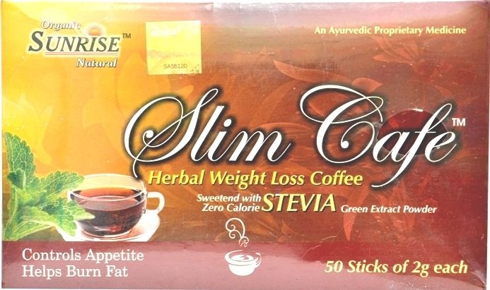 Buy Organic Slim Cafe Tea (Stevia) Formula Of Ayurved online