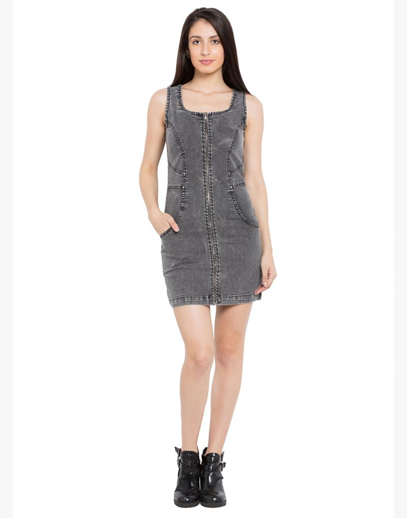 Buy Tarama Grey Color Solid Bodycon Dress For Womens (product Code - Tdd1048a) online