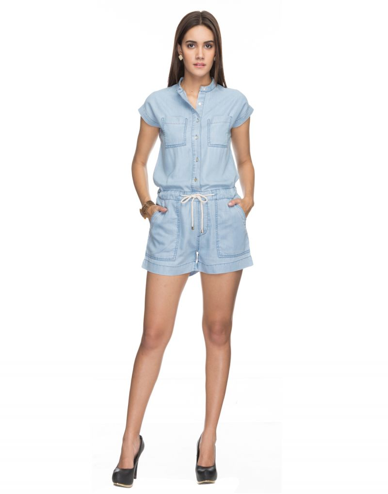 Buy Tarama Solid Blue Color Jumpsuit For Womens online