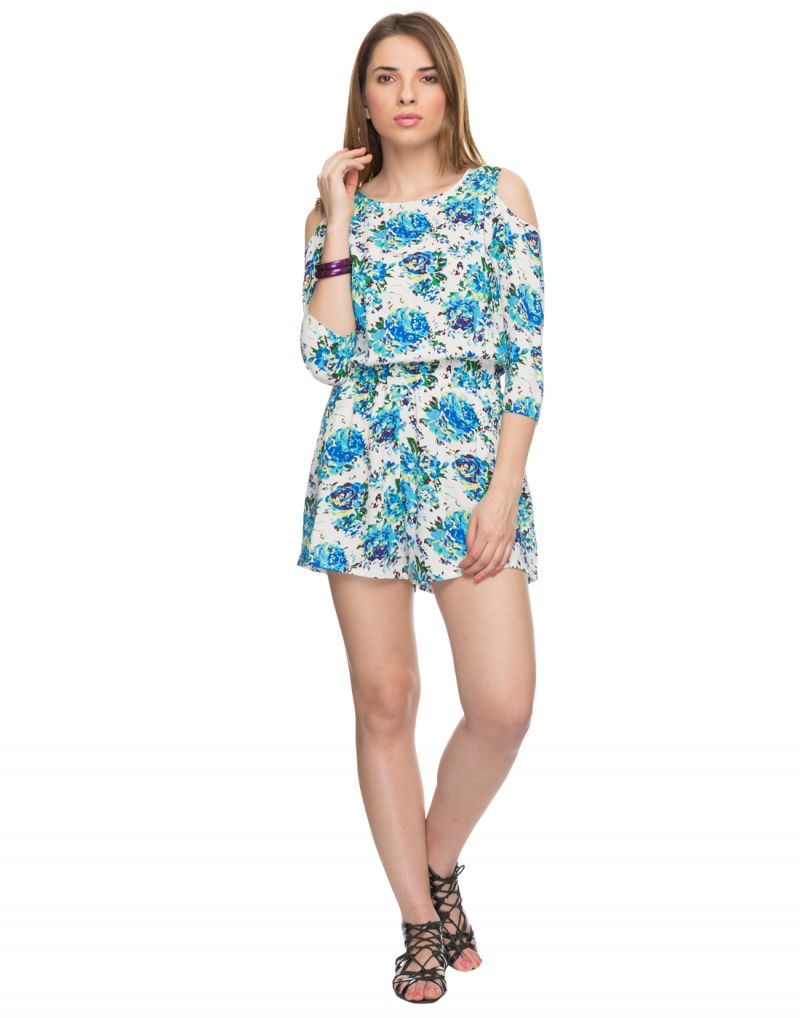 Buy Tarama Floral Print Multicolor Color Dress For Womens online