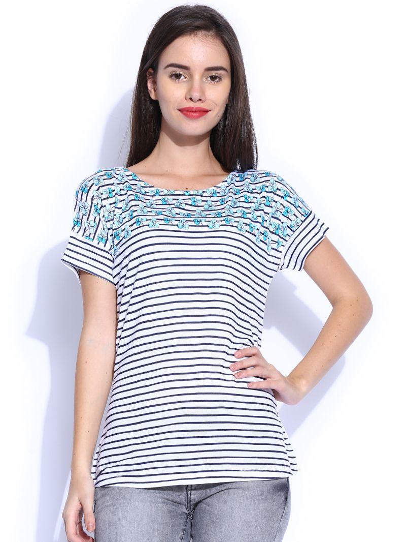 Buy TARAMA White color Viscose fabric womens online