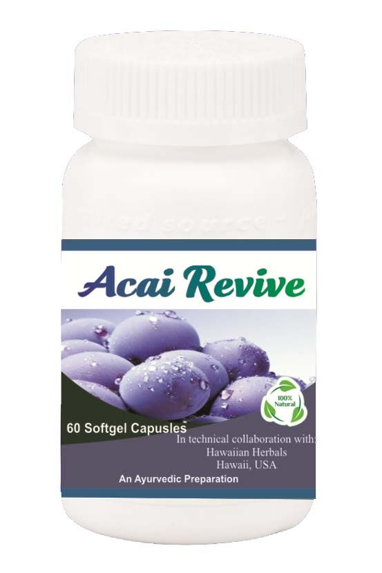 Buy Hawaiian Herbal Acai Revive Softgel Capsule 60 Softgels online