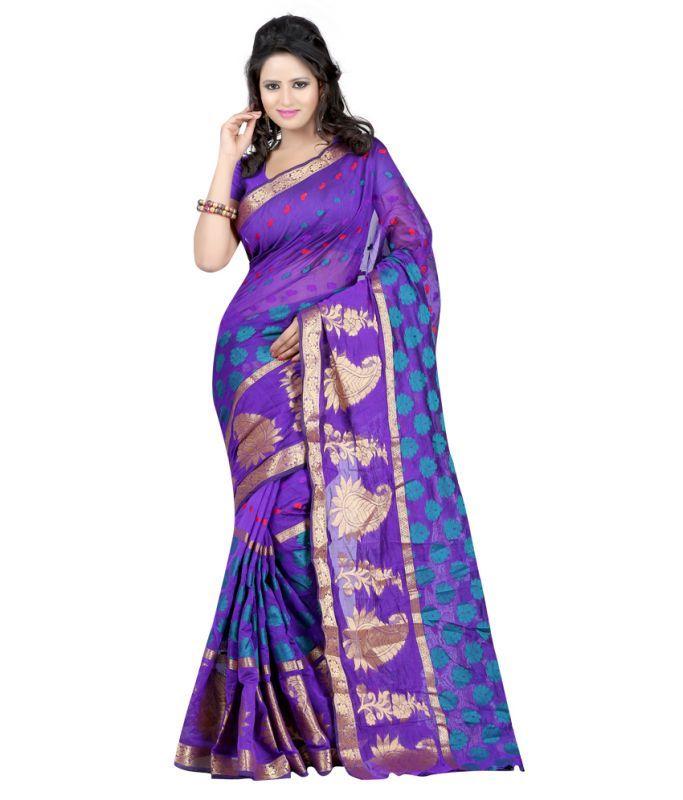 Buy Ansu Fashion Blue Banarasi Silk Sarees - Af_268-b online
