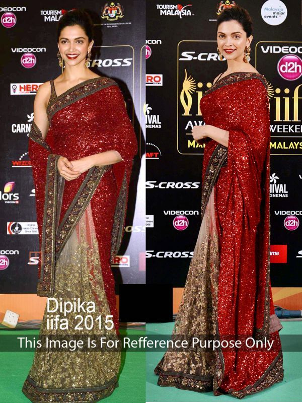 Buy Deepika Padukon Maroon And Lite Mehendi Stylish Fancy Georgette Bollywood Replica Saree (product Code_ Tng Ps 500) online
