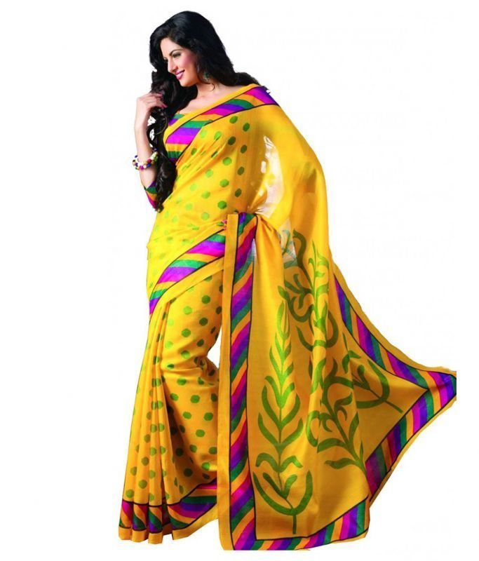 Buy Anshika Lifestyle Beautiful Collection Of Cotton Silk Bhagalpuri Multicolor Printed Saree(code Bgl-002) online