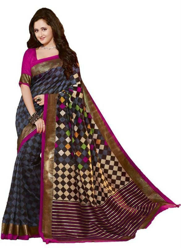 Buy Dlines Multicolor Bhagalpuri Silk Cotton Saree (code - Sum0073) online