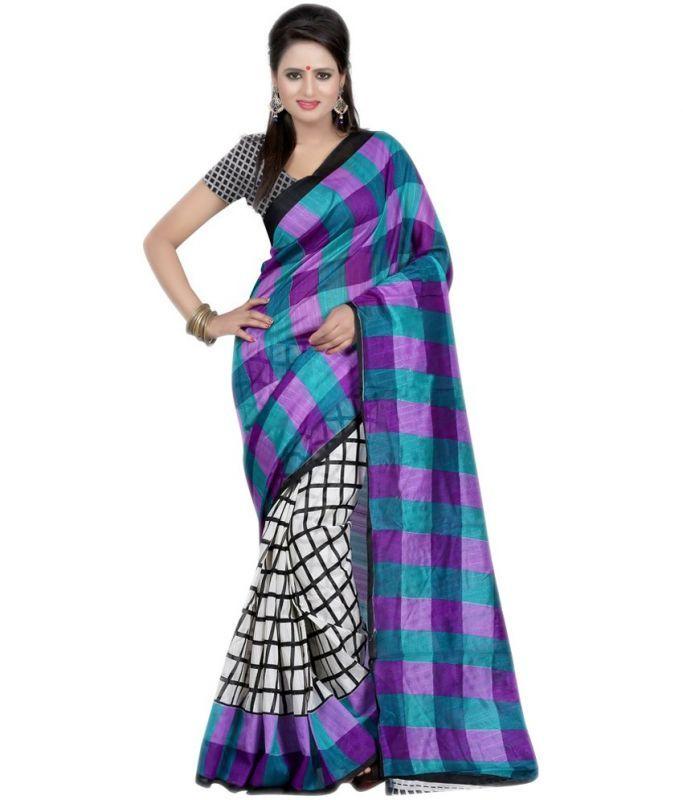 Buy Styloce Purple Bhagalpuri Saree Sty-8653 online