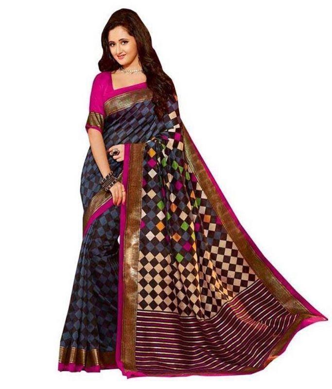 Buy Shree Plus Multi Color Bhagalpuri Silk Saree Sku-sp_b04 online