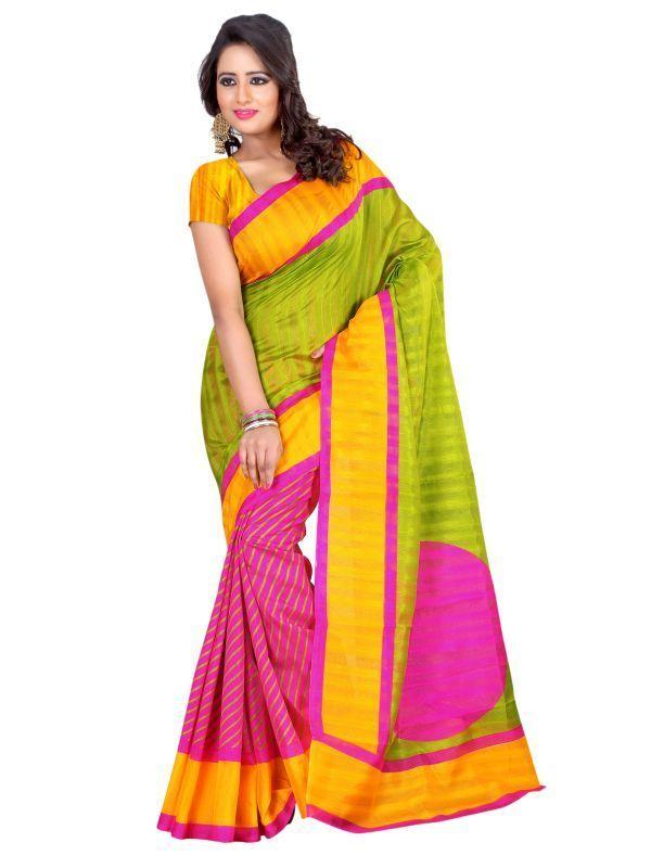Buy Styloce Green Bhagalpuri Printed Saree Sty online