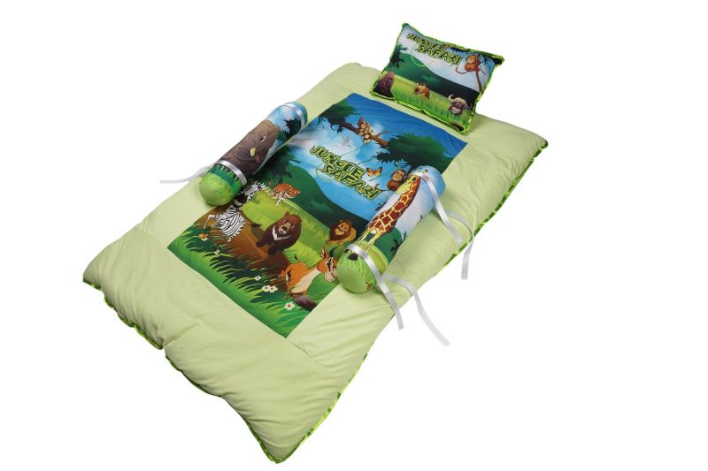 Buy Little Innocent Animal Printed Baby Bed With Pillow online