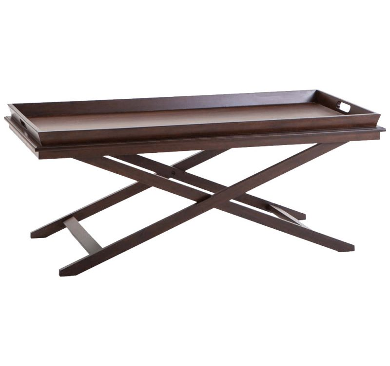 Buy Afydecor Modern Coffee Table with a Chic Criss-Cross Style Base online