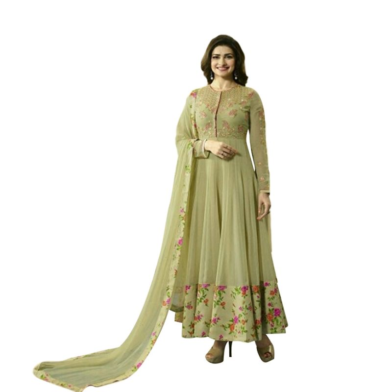 Buy Bollywood Replica Beautiful Prachi Desai Green Anarkali Suit online