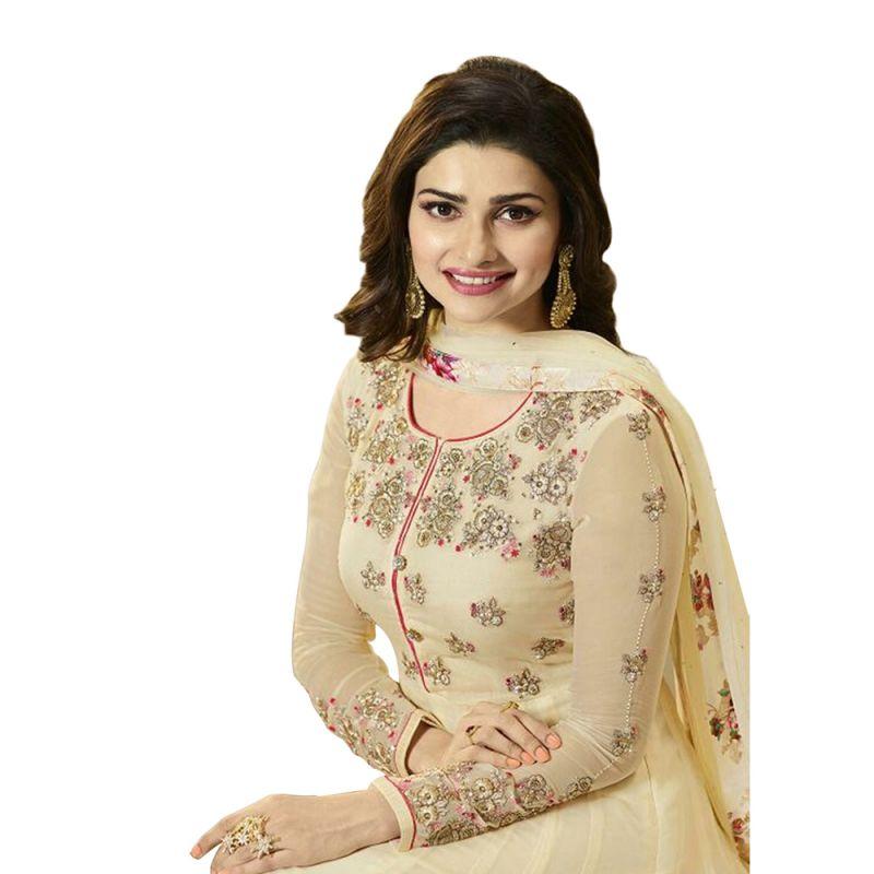 11a9226b5bb Buy Bollywood Replica Designer Beautiful Prachi Desai Beige Long Anarkali  Suit Online