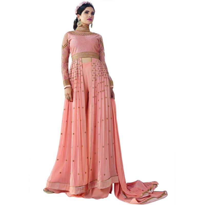 Buy Bollywood Replica Designer Long Pink Georgette Salwar Suit.- 140f4f03dm online
