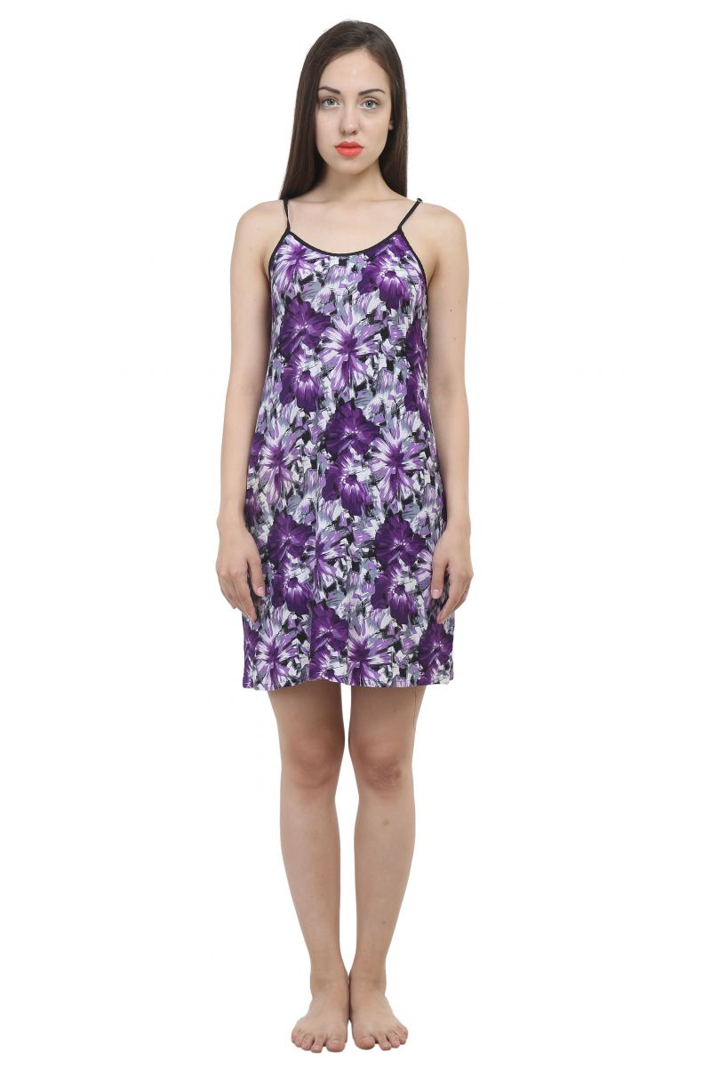 Buy Uac-by 99pockets Cotton Purple Babydoll (free Size) (code - Uac-02) online