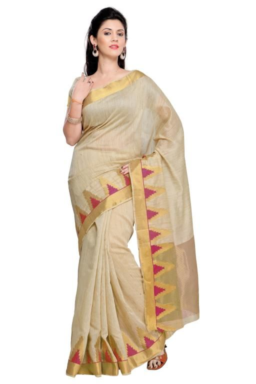 Buy Holyday Womens Cotton Silk Self Design Saree, Red (raj_tringal_red) online