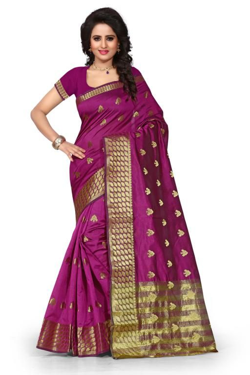 Buy Holyday Womens Poly Cotton Self Design Saree, Red (tamasha_butti_maroon) online
