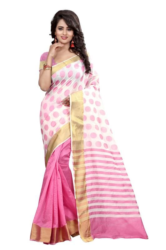Buy Holyday Womens Silk Thread Saree_ Light Pink (with Blouse) online