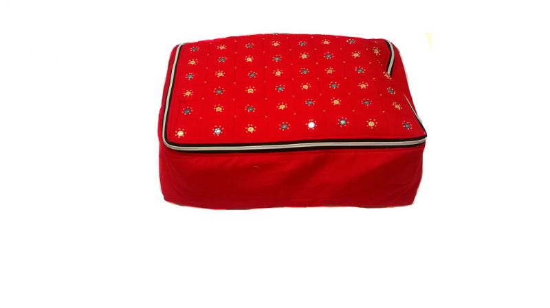 Buy Irin Handcrafted Red Cotton Saree Cover online