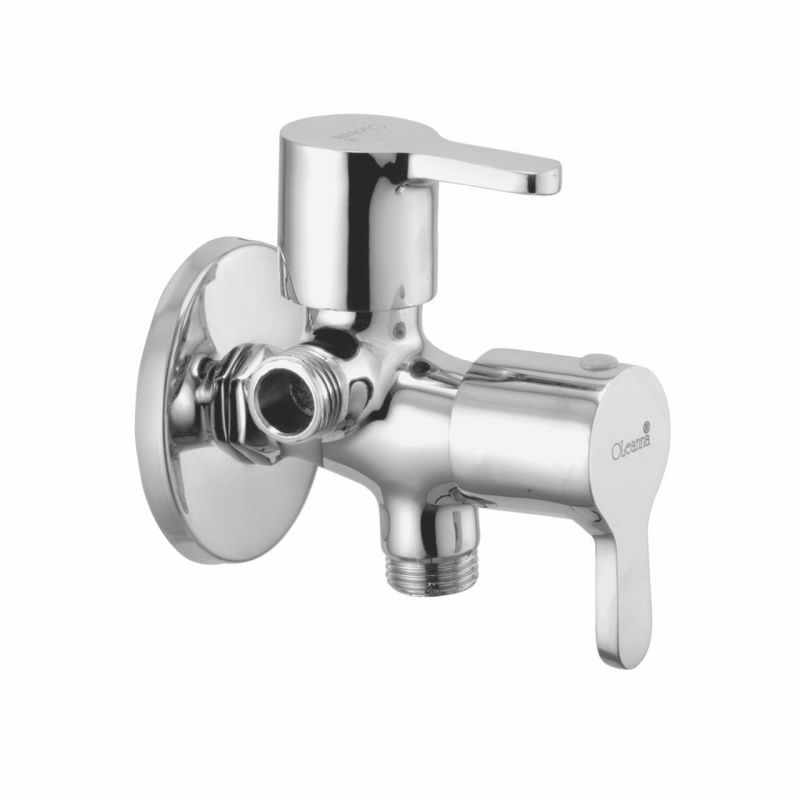Buy Oleanna Orange Brass 2 In 1 Angle Valve Silver Taps & Faucets online
