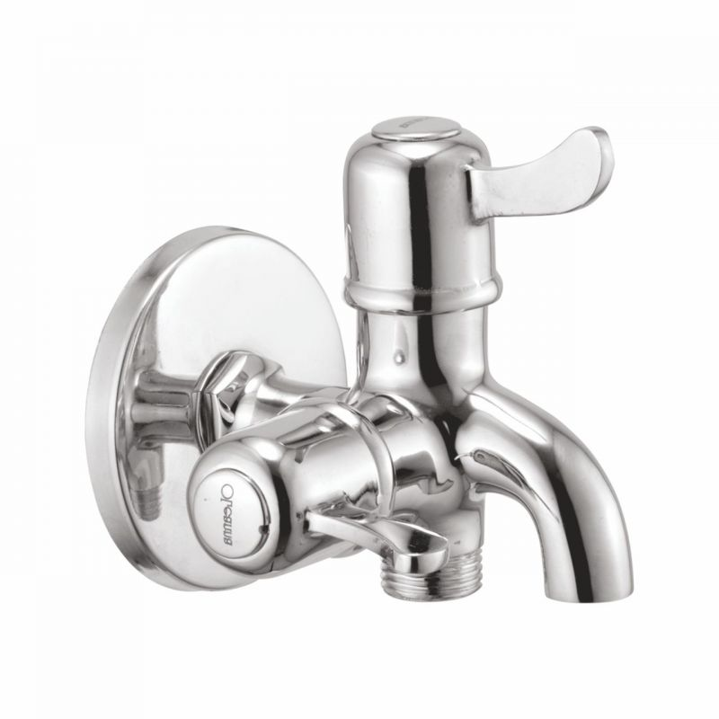 Buy Oleanna Magic Brass 2 In1 Bib Cock Silver Taps & Faucets online