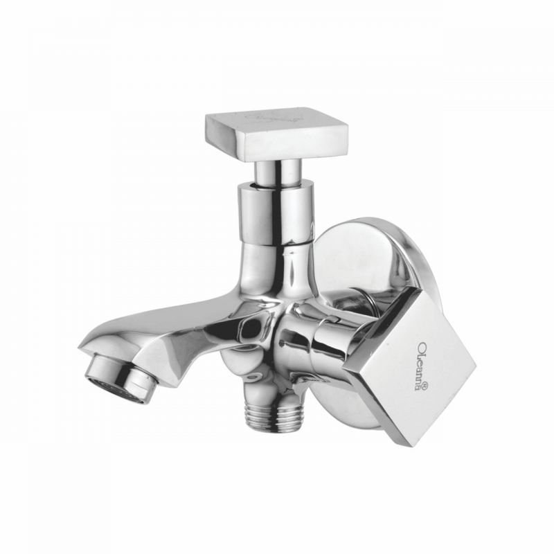 Buy Oleanna Melody Brass 2 In1 Bib Cock Silver Taps & Faucets online