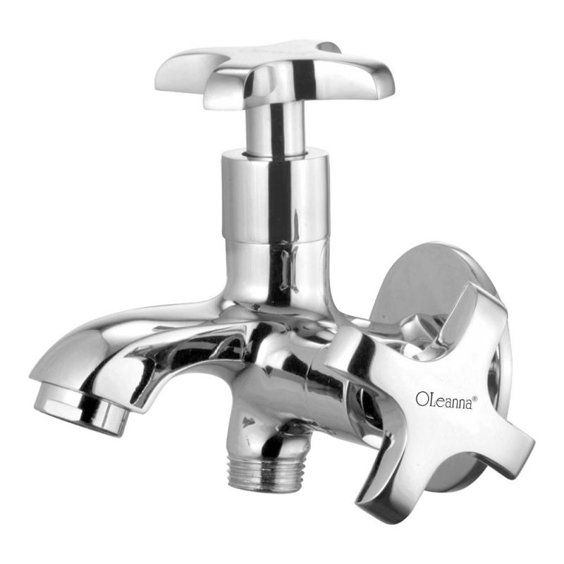 Buy Oleanna Salsa Brass 2 In1 Bib Cock Silver Taps & Faucets online
