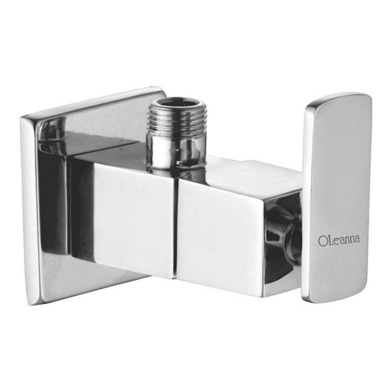 Buy Oleanna Kubix Brass Angle Cock Silver Taps & Fittings online