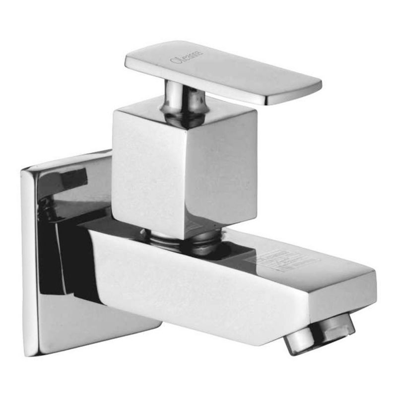 Buy Oleanna Kubix Brass Bib Cock Silver Taps & Faucets online