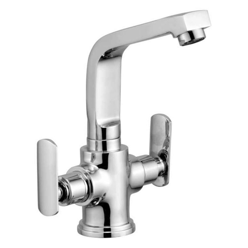 Buy Oleanna Speed Brass Center Hole Basin Mixer Silver Water Mixer online