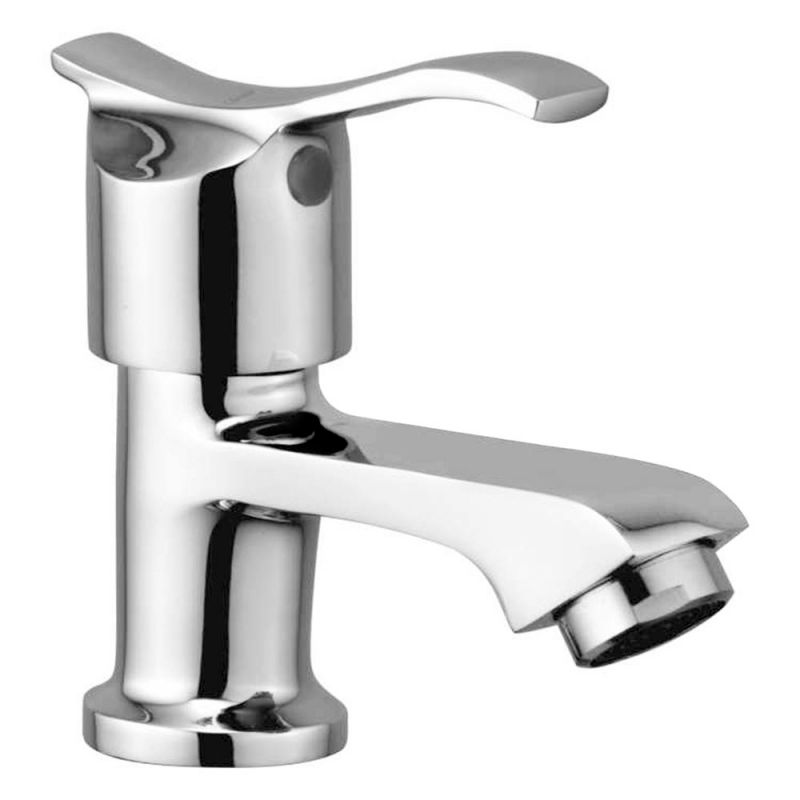 Buy Oleanna Angel Brass Pillar Cock Silver Taps & Faucets online