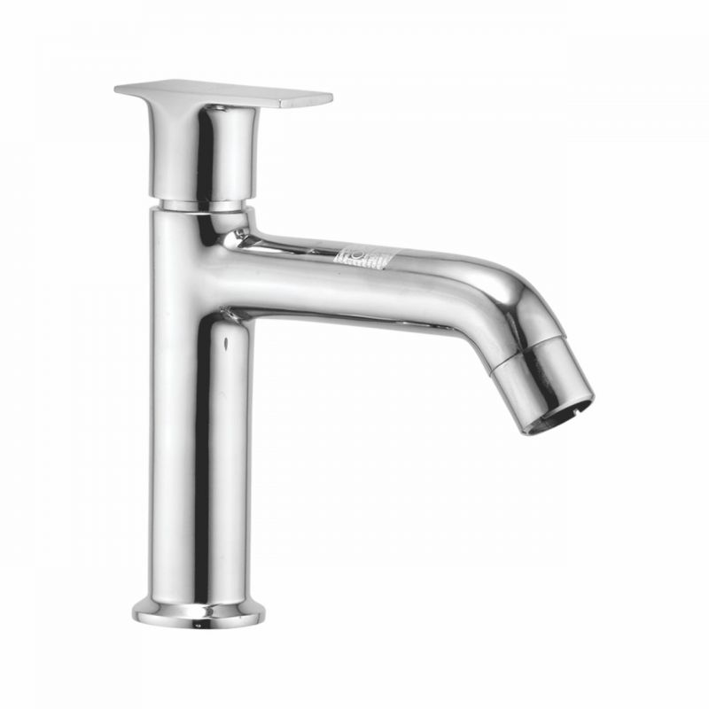 Buy Oleanna Global Brass Pillar Cock High Neck Silver Taps & Faucets online