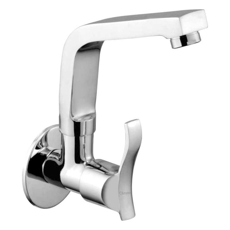 Buy Oleanna Angel Brass Sink Cock Silver Taps & Faucets online