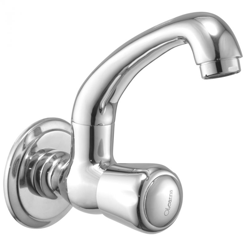 Buy Oleanna Croma Brass Sink Cock Silver Taps & Faucets online