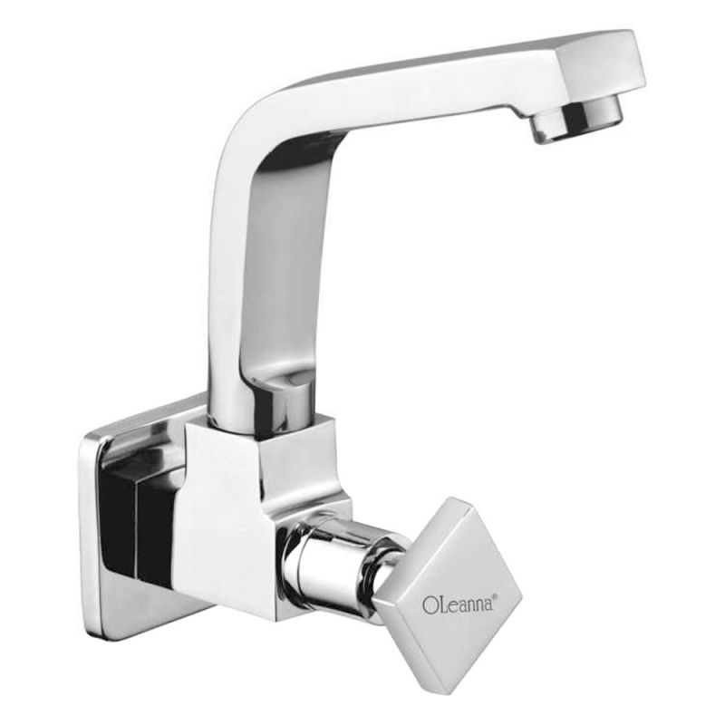 Buy Oleanna Melody Brass Sink Cock Silver Taps & Faucets online