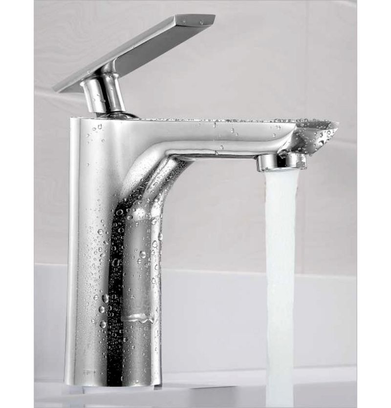 Buy Oleanna Golf Brass Single Lever Basin Mixer Silver Water Mixer online
