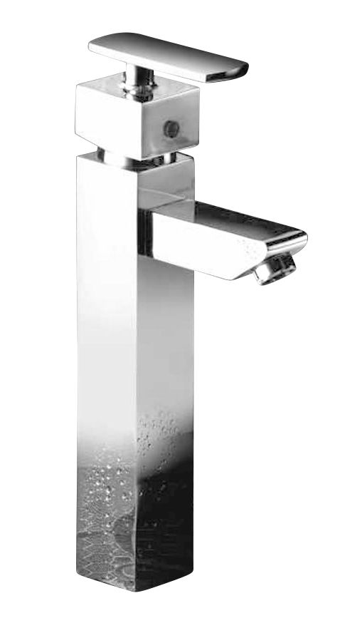 Buy Oleanna Kubix Brass Single Lever Basin Mixer Tall Body Silver Water Mixer online