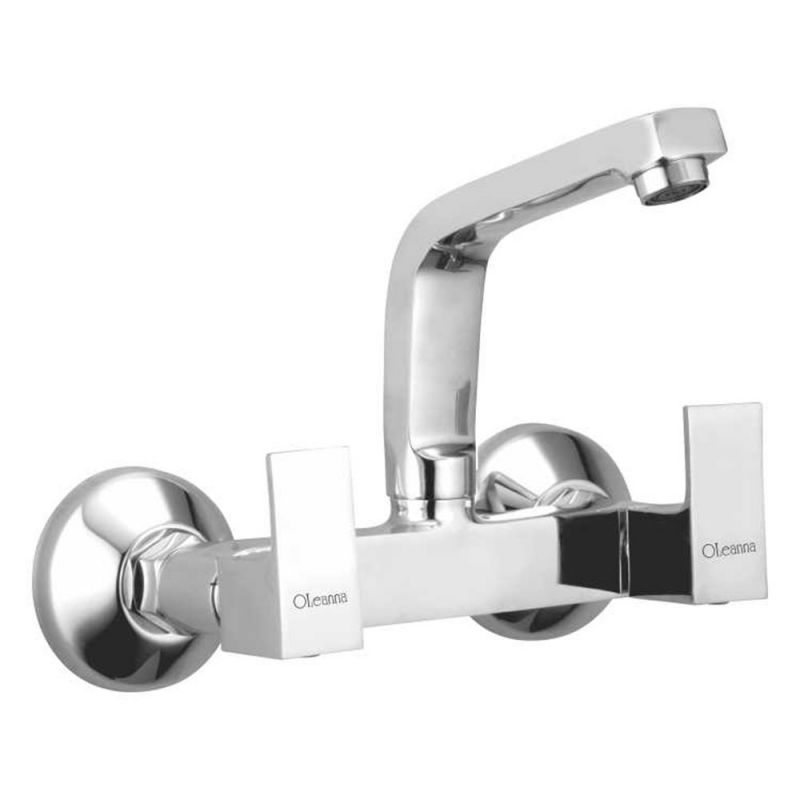 Buy Oleanna Square Brass Sink Mixer Silver Water Mixer online