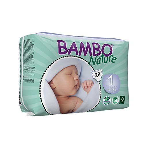 Buy Bambo Nature New Born 2-4 Kg, 28 Count, Size 1 online