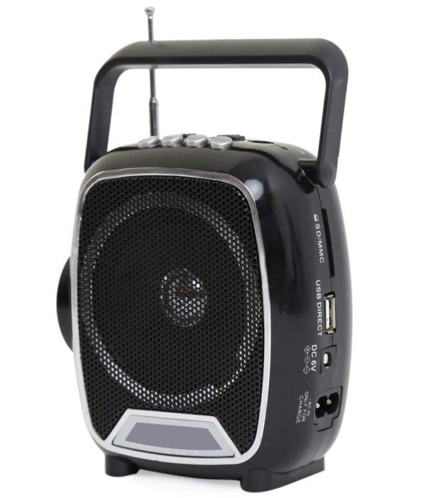 Buy FM Radio With Sd,usb,aux MP3 Player & Night Torch Light & Ext Battery Option online