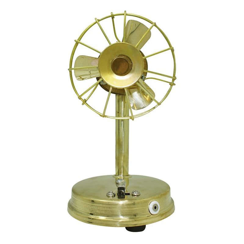 Buy Antique Brass Fan Home Decor Traditional Showpiece from Rajasthan online