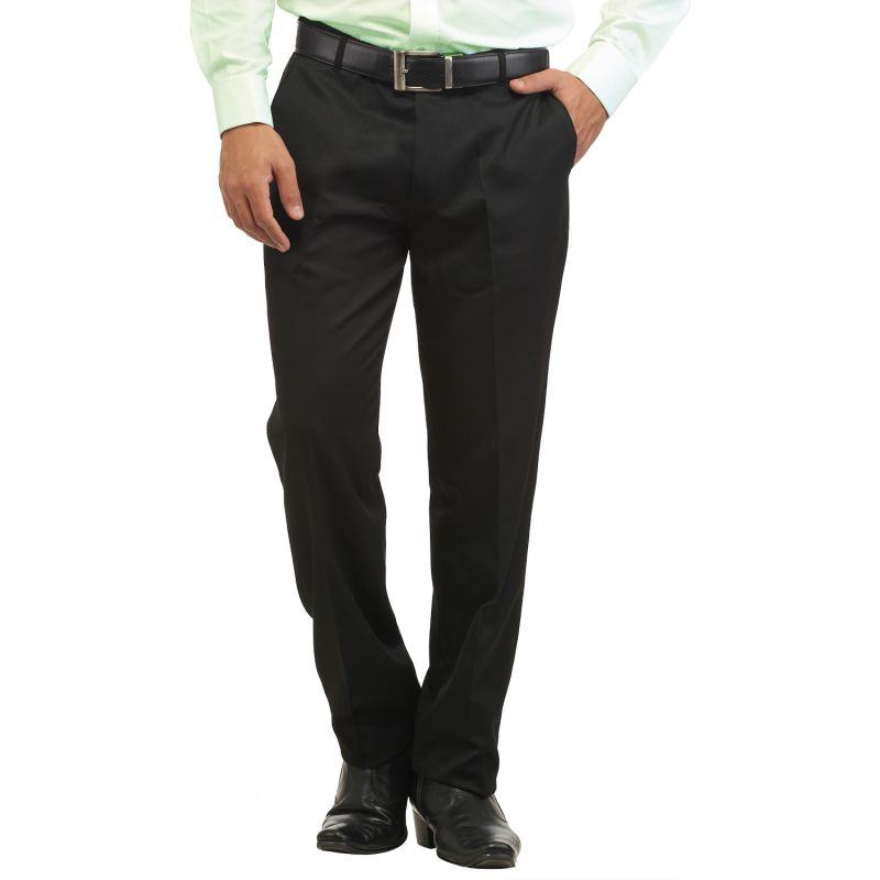 Buy Inspire Carbon Black Slim Fit Formal Trouser online
