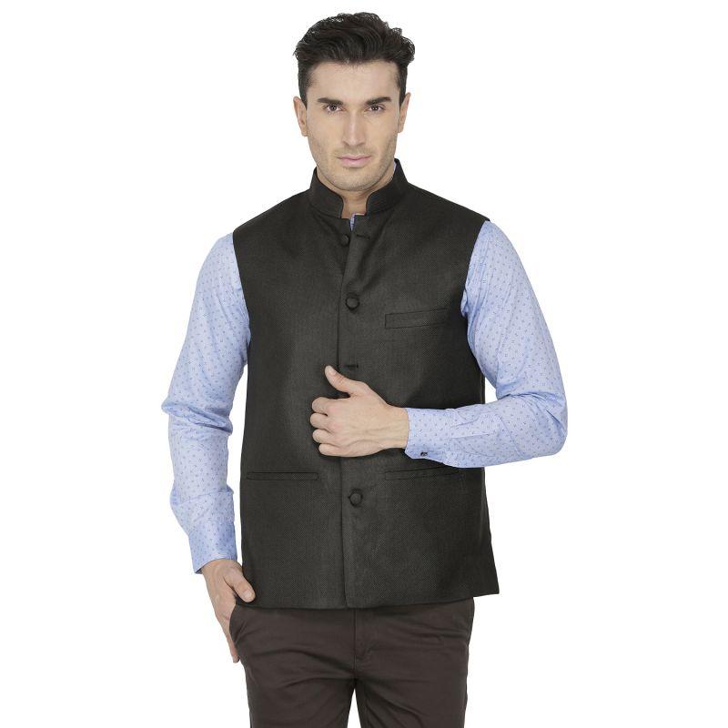 Buy Inspire Black Linen Modi Jacket online