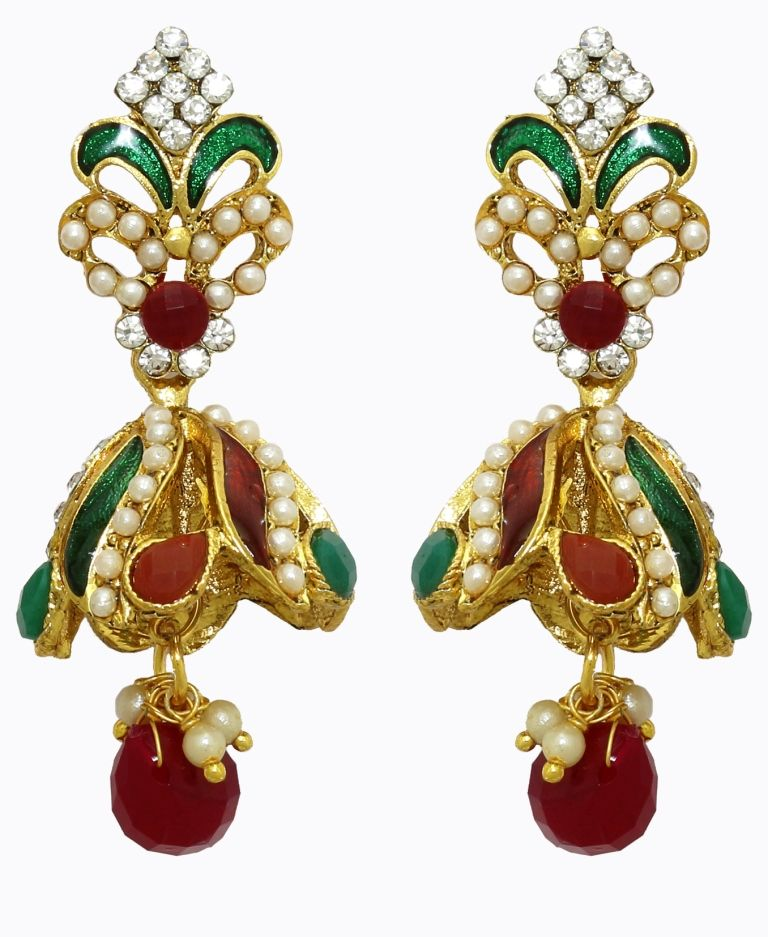 Buy LA TRENDZ Traditional Ear Jhumki Womensarring online