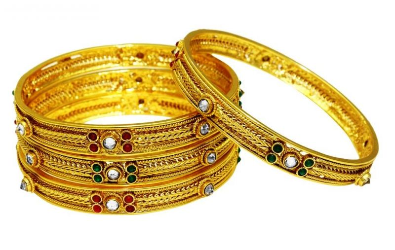 Buy La Trendz Wedding Wear Multicolour Royal Bangles For Women(lt2457) online